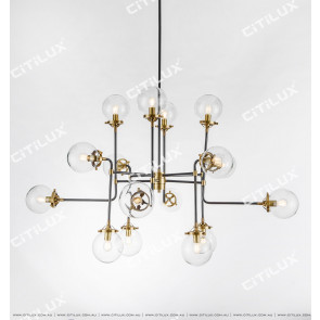 Simple Copper Molecular Structure Modern Chandelier Medium Citilux
