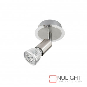 Rado 6W Led Gu10 1 Light Spotlight-Brushed Steel Globes Inc BRI