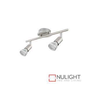 Rado 6W Led Gu10 2 Light Spotlight-Brushed Steel Globes Inc BRI