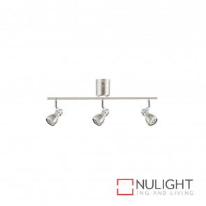 Sorrento Diy 6W Led Gu10 3 Light Spotlight-Brushed Steel Globes Inc BRI