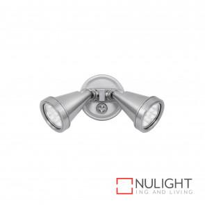 Secura 2X4W Led Floodlight Brushed Nickel BRI
