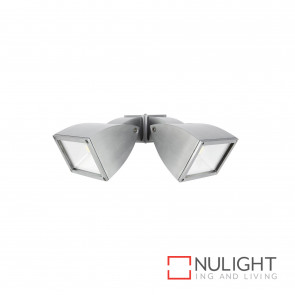 Strand Modern 2X10W Led Floodlight Brushed Aluminium BRI