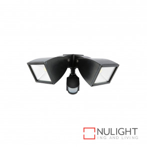 Strand Modern 2X10W Led Floodlight With Sensor Black BRI