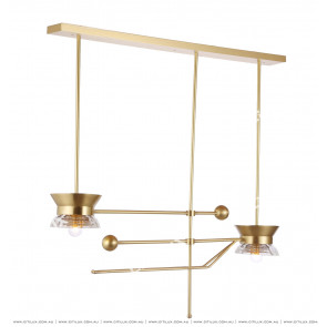 Copper Simple Wine Rack Bar Chandelier Citilux