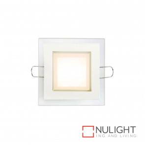 Stride Led Square Downlight Or Steplight 6W 400Lm 3000K-White BRI