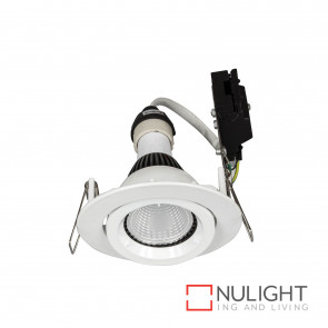 Downlight Kit - Gimbal Gu10 Globe Not Included-White BRI