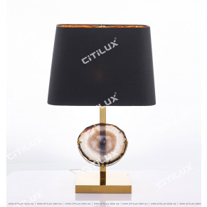 Modern Stainless Steel Agate High Black Table Lamp Citilux