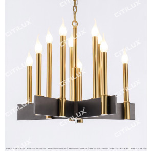 Modern Minimalist Row Candle Small Chandelier Citilux
