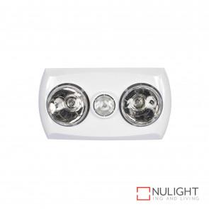 Majestic 2+1 Light 3-In-1 Bathroom Mate - White BRI