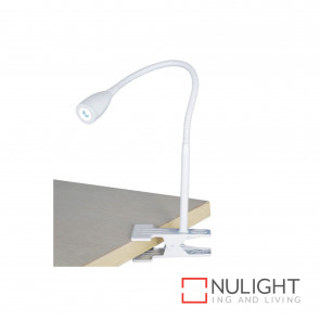Sassy 3W Led Clip-On Lamp-White BRI