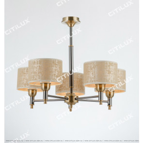 Neoclassical Pearl Black Bronze Two-Color Small Chandelier Citilux