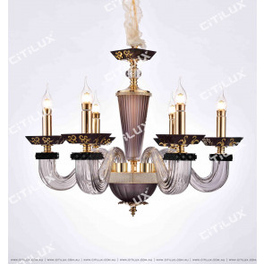 Modern European Square Glass Tube Chandelier Small Citilux