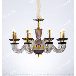 Modern European Square Glass Tube Chandelier Medium Citilux