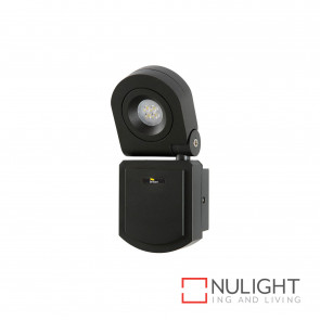 Arcolux 1 Light Security Wall Light - Charcoal BRI