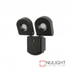 Arcolux 2 Light Security Wall Light - Charcoal BRI