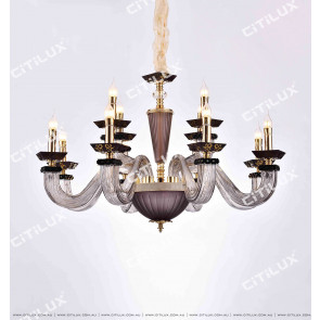 Modern European Square Glass Tube Chandelier Citilux