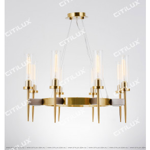 Modern Straight Glass Chandelier Citilux