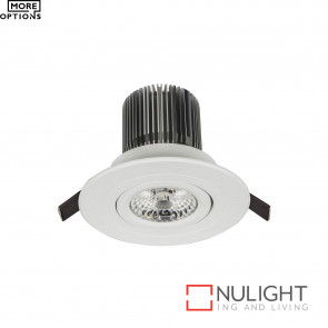 Luxor Led Flat Profile Round Gimbal Downlight 12W 800Lm 3000K BRI