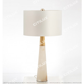 Hexagonal Column Marble Table Lamp Citilux