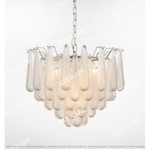 Modern Transparent Crystal Glass Chandelier Citilux