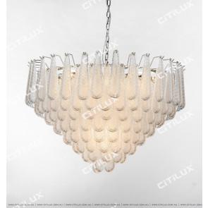 Modern Transparent Crystal Glass Medium Chandelier Citilux