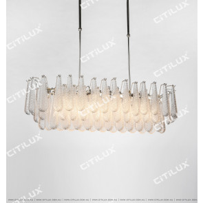Modern Transparent Crystal Glass Large Chandelier Citilux