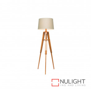Anchor 1580Mm Timber Tripod Floor Lamp - Natural BRI