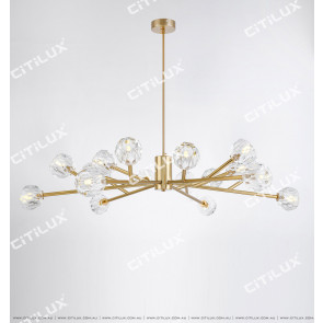 Simple Crystal Ball Chandelier Citilux