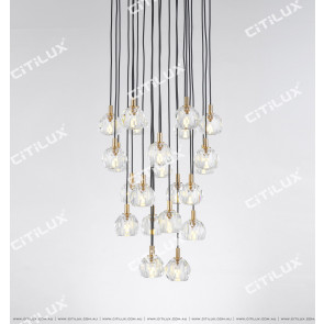 Simple Crystal Ball Round 23 Lights Chandelier Citilux