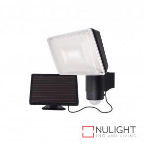 Solei Solar-Powered Led Security Light With Sensor-Black BRI