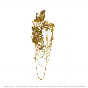 Copper Butterfly Diffuse Gold Leaf Wall Lamp Citilux