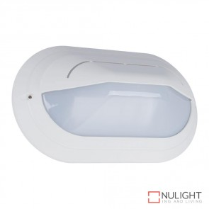 Vl 127090 Oval Eyelid 240V Polycarbonate Wall Light White Base E27 DOM