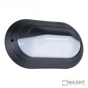 Vl 127091 Oval Eyelid 240V Polycarbonate Wall Light Black Base E27 DOM
