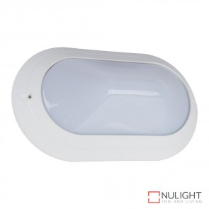 Vl 127090 Oval 240V Polycarbonate Wall Light White Base E27 DOM