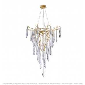 Hollow Small Chandelier With Copper Branches Citilux