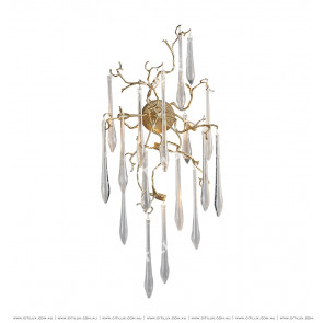 Full Copper Branch Water Drop Large Wall Lamp Citilux
