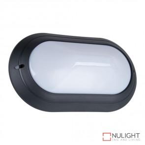 Vl 127391 Oval 240V Polycarbonate Wall Light Black Base E27 DOM