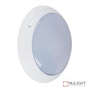 Vl 127490 Round 240V Polycarbonate Wall Light White Finish E27 DOM