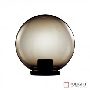 Vl 1010403 400Mm Sphere 240V Polycarbonate Garden Light Black Base And Smoke Sphere E27 DOM