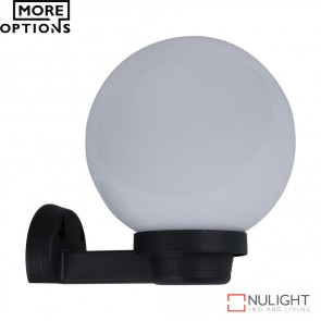 Vl 120024 200Mm Sphere And Arm 240V Polycarbonate Wall Light Opal Sphere E27 DOM