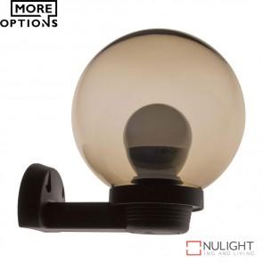 Vl 120025 200Mm Sphere And Arm 240V Polycarbonate Wall Light Smoke Sphere E27 DOM