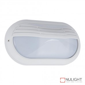 Vl 127000 Oval Eyelid 240V Polycarbonate Wall Lights White Finish E27 DOM