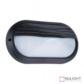 Vl 127001 Oval Eyelid 240V Polycarbonate Wall Lights Black Finish E27 DOM