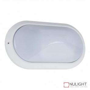 Vl 127300 Oval 240V Polycarbonate Wall Light White Finish E27 DOM