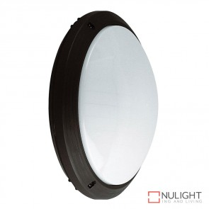 Vl 127401 Round 240V Polycarbonate Ceiling Light Black Finish E27 DOM