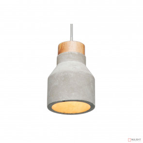 Imogen 120Mm Copncrete Pendant With Timber Stopper-Grey BRI