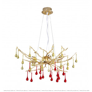 Copper-Shaped Water Drop Chandelier Small Citilux