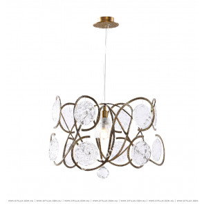 All-Copper European Style Glass Chandelier Citilux