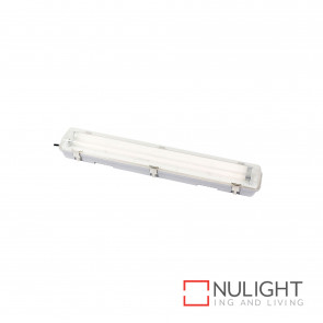 T5 Weatherproof Fluorescent Fitting 2X14W 4200K Ip65 - Grey BRI