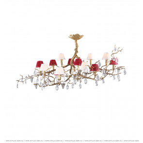 All Copper Tree Fork Drop Shaped Ceiling Lamp Citilux